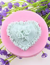 в форме сердца цветы помадной торт шоколадный силиконовые формы, формы для выпечки украшения инструменты