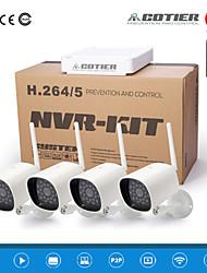 cámara cotier® kit nvr 4 canales hd / Mini / ONVIF / 1MP / 1.3mp / wifi ip n4b3e-mini / l