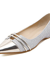 Women's Shoes Tulle Low Heel Pointed Toe Flats Casual Silver
