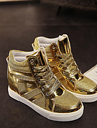 Scarpe Donna - Sneakers alla moda - Tempo libero / Casual - Zeppe / Comoda - Zeppa - Vernice / Tulle - Nero / Argento / Dorato