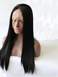 Горячая продажа фронта шнурка высокого Tempreture волокна парики на продажу афроамериканец парики парики Эмма черный парик