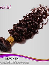 "1 peças lote 8 ""-30"" brasileiros profundas onda tramas do cabelo virgem marrom # 2 feixes humanos escuros ondulados tecer cabelo"