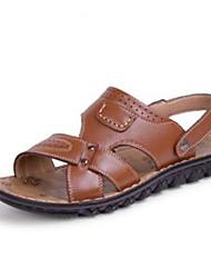 Chaussures Hommes - Décontracté - Noir / Marron - Similicuir - Sandales