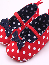 Baby Shoes - Casual - Ballerine - Tessuto - Rosso