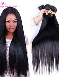 3pcs Lot Brazilian Virgin Hair Straight  Human Hair Extensions Natural Black Hair Weaves
