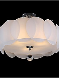 YL Chandeliers/Pendant Lights/Ceiling 3 LED Bulb With K9 Crystal Frosted Glass Shade Minimalist Style
