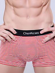 Men's Modal Stripe Briefs Elasticity Underwear