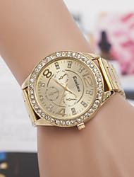 montre alliage de quartz suisse diamant de montres pour femmes montre en acier de la mode
