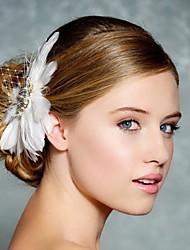 Hand Made Wedding Feather Hair Clip Fascinator Headpieces Fascinators 044