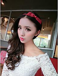 neue Han Ausgabe mehrschichtigen Netz Garn mit feinen Haarbandhaarnadel-Wein red bow