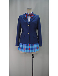 Inspired by Love Live Cosplay Anime Cosplay Costumes Cosplay Suits Patchwork Blue 3/4-Length SleeveTop / Shirt / Skirt / Socks / More