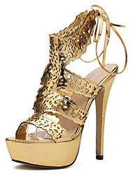 Women's Shoes   Stiletto Heel Wedges/Open Toe Sandals Casual Silver/Gold