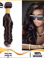 4pcs Brazilian Ocean Wave Hair Bundles Weaves 100% Unprocessed Dark Brown Human Hair Weft