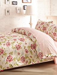 H&C Long Staple Cotton 1200TC Duvet Cover Set 4-Piece Flowers Pattern MT13-002