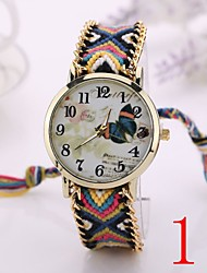 I&VY   New Arrival Handmade Rope Bracelet Watches Women Knitted Colorful Quartz Casual Wristwatch Nation Bracelet