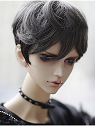 "TITA 1/4 7-8"" Dal MSD Pullip BJD SD LUTS Supper Dollfie Doll Gray Mix Short Wig"