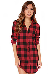 Women's Long Shirts In The Grid