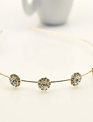 South Korea Imported Hairpin Rhinestone Beaded Head Hoop Decorations Sunflower Crystal Hair Band