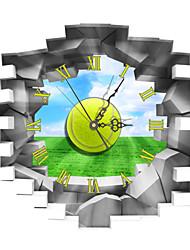 PAG®Modern Design 3D Effect Tennis Pattern Clock Sticker 16.53*14.96 in