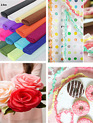 Jumbo Streamers Crepe Paper for Wedding Party Decoration(2.5m*50cm)