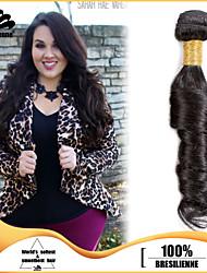"3pcs/lot 12""-30"" Brazilian Virgin Hair Natural Black Ocean Wave Human Hair Extensions Hair Weaves Tangle Free"