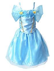 BHL Girl's Sleeveless Cinderella Style Long Dresses Evening Party Dress Birthday Festival Gift for Toddler Girls 3~10Y