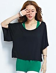Women's Vintga Sexy Casual Cute Plus Size T-shirt ,  ½ Length Sleeve,Cotton