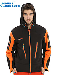 Mount Conquer Men's Outdoor Jacket Brand Hiking Jacket Softshell Jacket Windproof  Thermal Hiking Camping Jacket