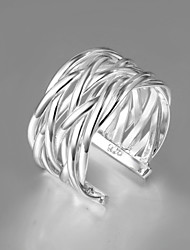 Limited Sale Italy S936 Silver Plated Ring Wholesale Price Fashion Jewelry Ring Statement Jewelry