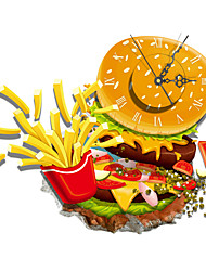 PAG®Modern Design 3D Effect Hamburger Pattern Clock Sticker 17.28*14.96 in