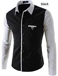 playgame  Men's Shirt Collar Casual Shirts , Cotton Blend Long Sleeve Casual