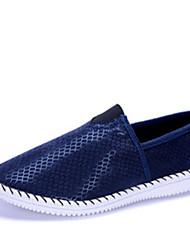 Zapatos de Hombre Mocasines Casual Tela Azul / Marrón