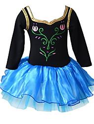Vestido Chica de - Todas las Temporadas - Mezcla de Algodón - Manga Larga