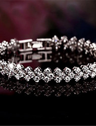 Tiyi Women Bracelet , Vintage / Cute / Party / Work / Casual Silver / Cubic Zirconia