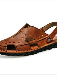 Men's Shoes Outdoor Leather Sandals Black/Brown/Khaki