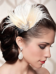 Hand Made Wedding Feather Hair Clip Fascinator Headpieces Fascinators 009
