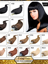 16-24 inch Remy Micro Ring/Loop Hair 0.5g/s Human Hair Extensions 14 Colors for Women Beauty