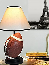 Desk Lamps 220V Resin Fabric European Rugby Retro Classic