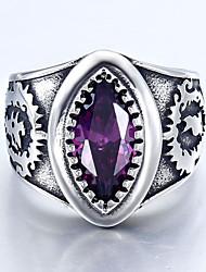 BOHO Men's Fashion Vintage Stainless Steel Cz Ring