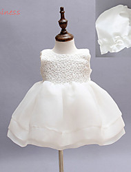 2Pieces Hat +Dress Baby Flower Girl's Cotton/Mesh/Polyester Dress , Summer/Winter/Spring/Fall Sleeveless