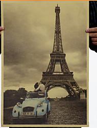 Paris Eiffel Tower Still Life/Modern Canvas Print Giclee Print One Panel Matt Kraft Ready to Hang