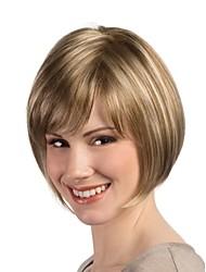 última moda rubia mezcla peluca llena de las mujeres