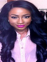 brasileiro do cabelo humano sem cola onda do corpo perucas full lace virgem cheap120% de densidade de -130% para as mulheres negras não