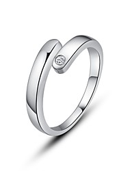 Fine Jewelry 925 Sterling Silver Rings for  Women Cute/Party/Work/Casual Sterling Silver Adjustable Ring