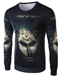 Men's T-Shirts , Cotton Blend Casual Summer/Spring/Fall LIU.JO