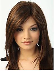 The European and American fashion  Quality Pretty Medium Straight Brown Hair Wig