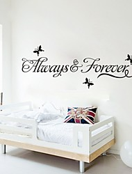 "Lovely ""Always and Forever"" Printing Wall Stickers"