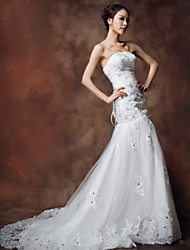 Ball Gown Floor-length Wedding Dress - Strapless Organza