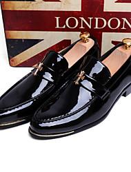 Zapatos de Hombre Boda/Oficina y Trabajo/Fiesta y Noche Cuero Patentado/Purpurina Oxfords Negro/Azul/Amarillo/Rojo