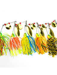5 pcs Hengjia Metal Spinner Baits 16.3g  Floating Fishing Lures